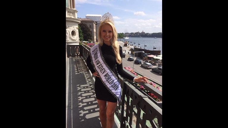 Emma Strandberg, från Hallstahammar, är Miss Sweden World 2016.