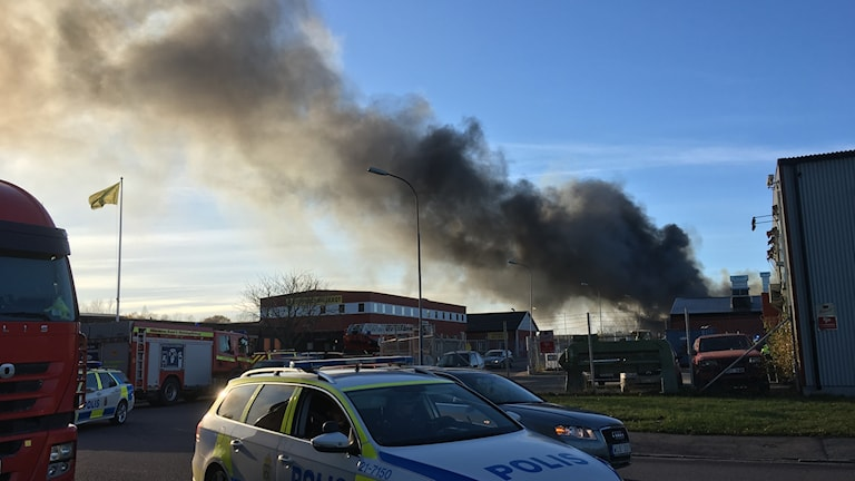 Brand Bastborregatan på Hälla i Västerås