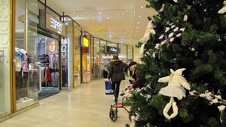 Galleria i julhandeln. Foto: Ida Nilsson/Sveriges Radio.
