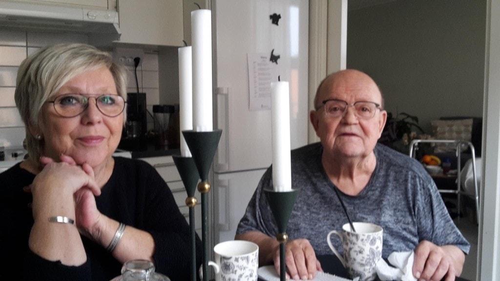 Elisabeth Lodèn i Västerås med sin man Sverre.