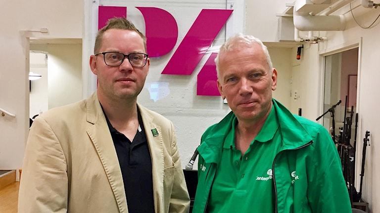 Andreas Porswald (MP) och Lars Kallsäby (C).