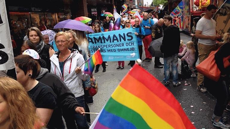 Pridefestivalen i Västerås.