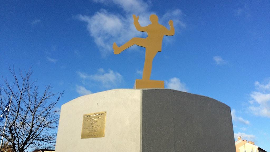 Thore Skogman-statyn i Hallstahammar.