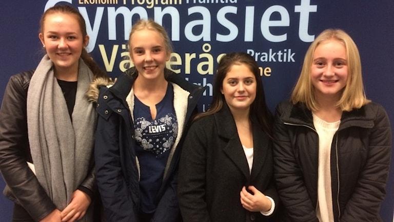 Ruth Kronman, Engla Nevelid-Stenström, Tuva Pettersson och Linnéa Sandelin.