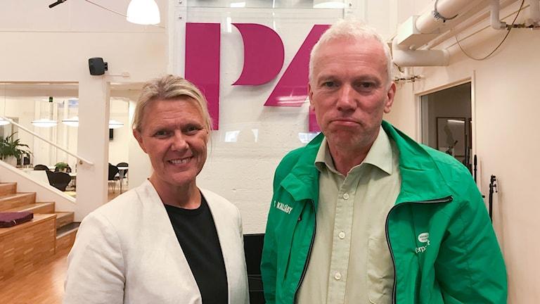 Ann-Christine From Utterstedt från Sverigedemokraterna  utmanade kommunalrådet Lars Kallsäby från Centerpartiet.