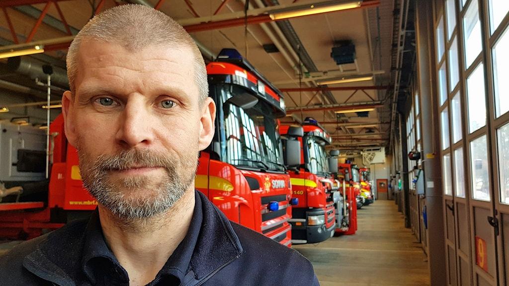 Brandingenjör Fredrik Eriksson.