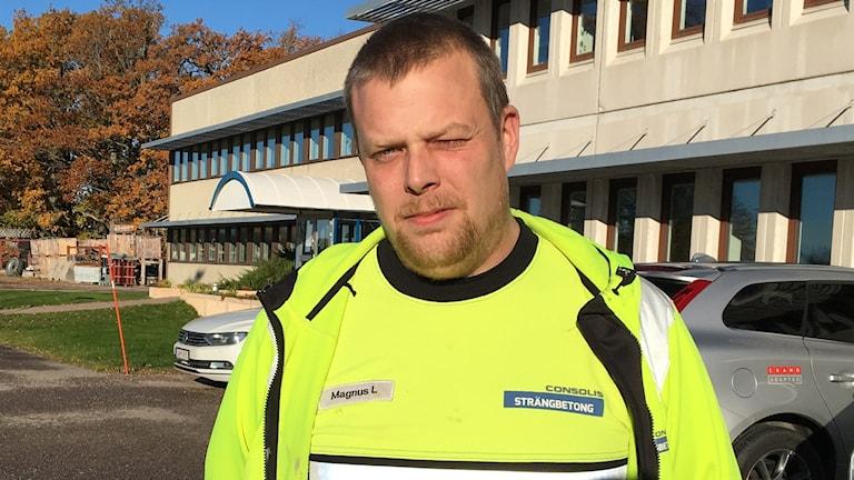Magnus Larsson är klubbordförande i IF Metall Strängbetong.