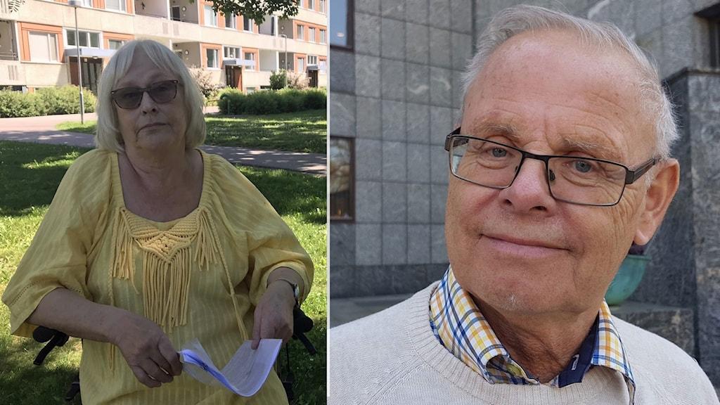 Lena Johansson och Bengt-Åke Nilsson (L), ordförande i äldrenämnden i Västerås.