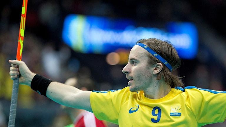 Innebandyspelaren Alexander Galante Carlström