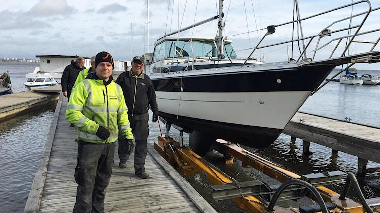 Mathias Björklind, verksamhetsansvarig på Västerås Förenade Båtklubbar.