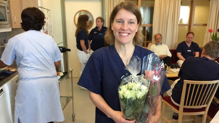 Elisabeth Rados, cancersjuksköterska på Bröstenheten i Västerås.