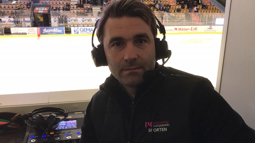P4 Västmanlands hockeyexpert Tobias Bössfall.