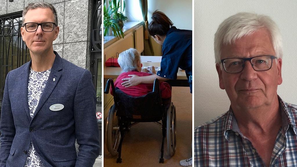 Tobias Åsell, direktör för äldre- och omsorgsförvaltningen i Västerås, och Ove Bergman, socialchef i Arboga kommun.