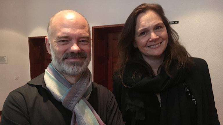 Niklas Hjulström, regissör och  alt-sångerskan Anna Larsson