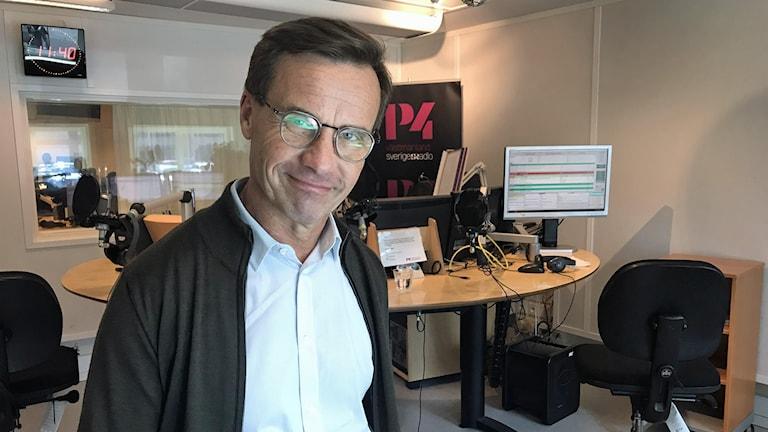 Partiledare Ulf Kristersson (M).