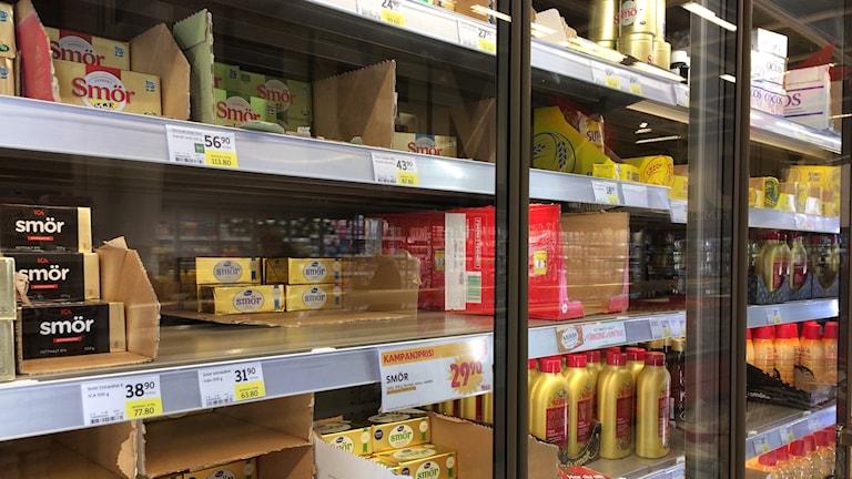 Smöret är dyrare på många håll den här julen jämfört med förra.