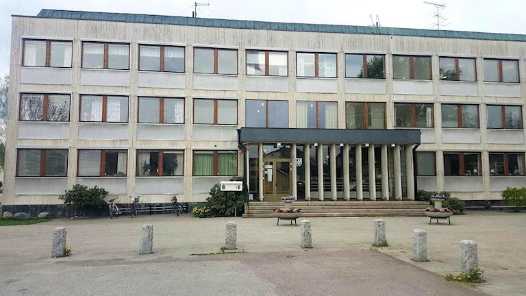 Kommunhuset i Norberg, entrén