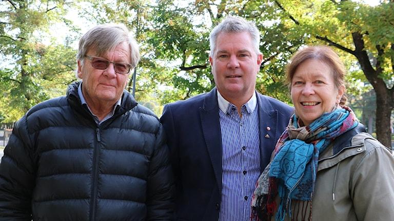 Christer Henriksson (V), Mikael Peterson (S) och Gunilla Wolinder (L) Foto: Cecilia Palmblad, kommunikatör.