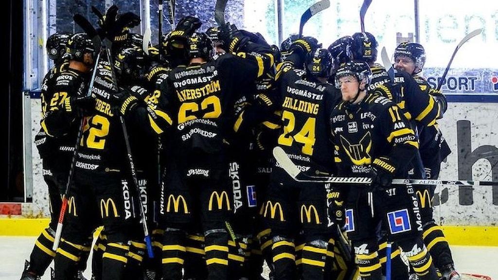 Hela laget firar, VIK Hockey 20-21