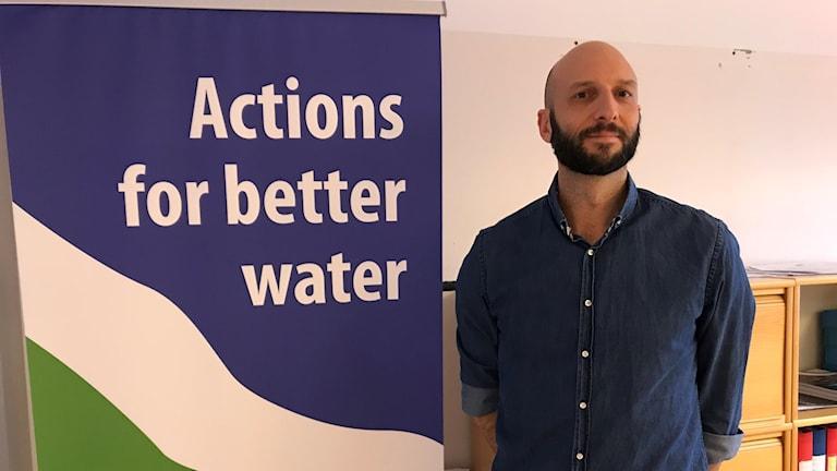Projektledaren David Liderfelt på Vattenmyndigheten.