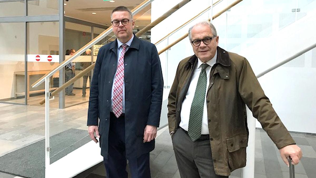 Försvarsadvokaterna Rolf Klintfors och Tomas Nilsson.