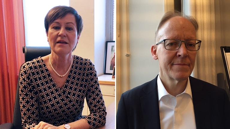 Kristina Olström, HR-direktör på Västerås Stad, Johan Söderström, vd på ABB Sverige.
