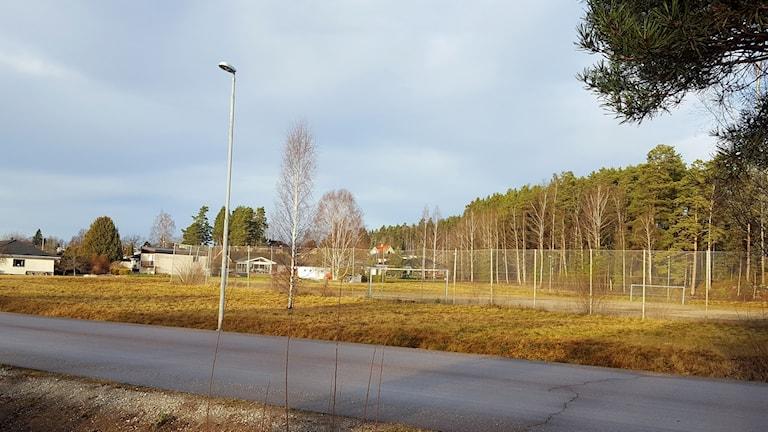 Tomten i Uggelbo där äldreboendet ska byggas.