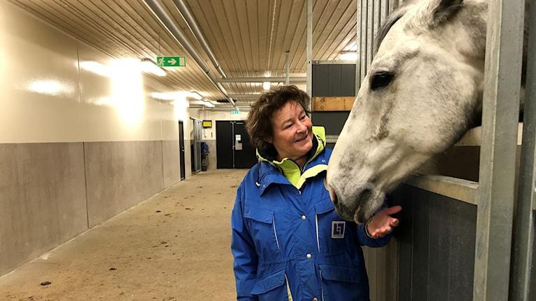Lena Nilsson i Rocklundastallet.