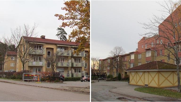 Hus på Bäckby och Skallberget