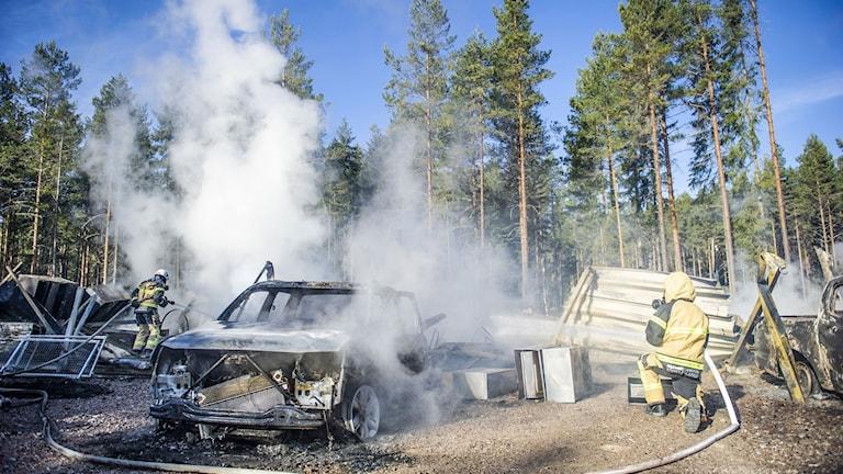Brand i Myrsjö.