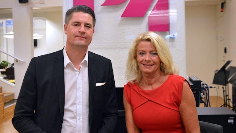 Oscars Sjöstedt (SD) och Pia Nilsson (S).