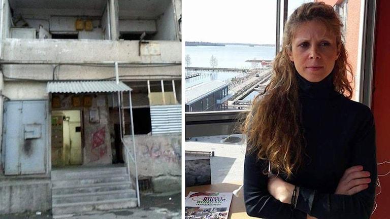 Maral och huset där hon fått bo tillfälligt i Armenien.