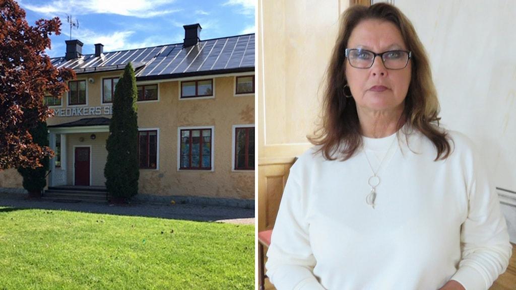 Medåkers skola och Christina Johansson (M), ordförande i valnämnden i Arboga kommun.