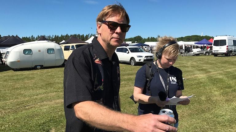 Klas Brink som anordnar Västerås Summer Meet.