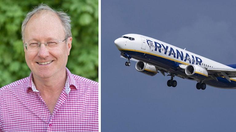 Didrik von Seth, generalsekreterare och vd för Svenska resebyrå- och arrangörsföreningen, SRF. Ryanair lägger på Skavsta flygplats.