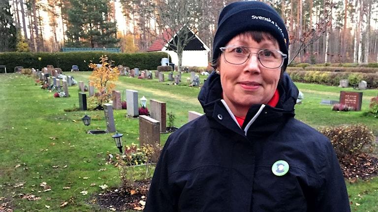 Eva Björk är kyrkvaktmästare i Virsbo kyrka.