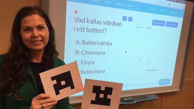 Linda Svedérus, lärare på Blåsboskolan i Västerås.