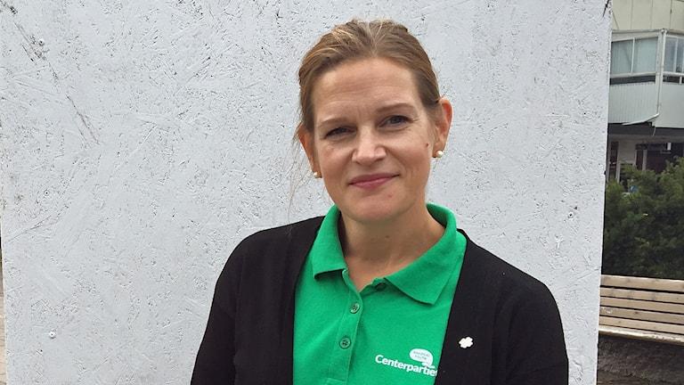 Anna Gunstad Bäckman. Centerpartiet i Hallstahammar.