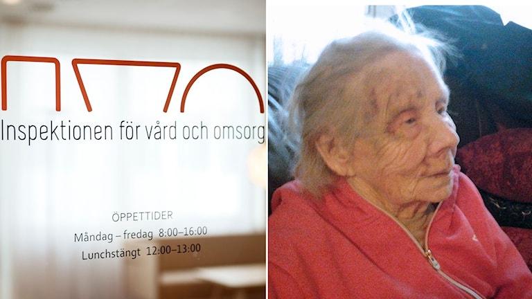 IVO-skylt och Alli Jönsson.