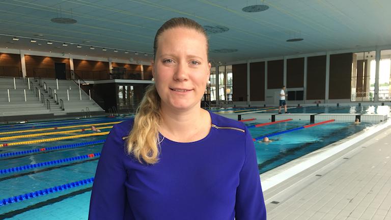 Isabell Stor, projektchef för bygget av nya Lögarängsbadet.
