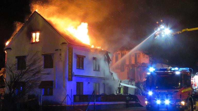 Brand i en fastighet på Pilgatan i Västerås