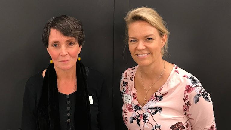 Christina Runesson och Åsa Grönlund höll i dagens rundvandringar.