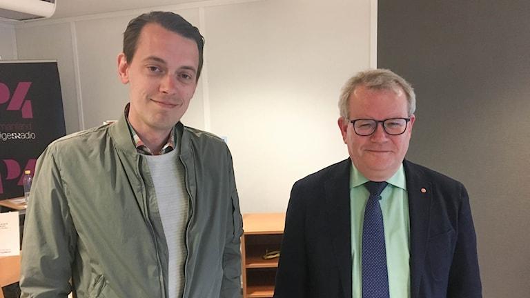 Anders Teljebäck (S) och Jesper Brandberg (L)