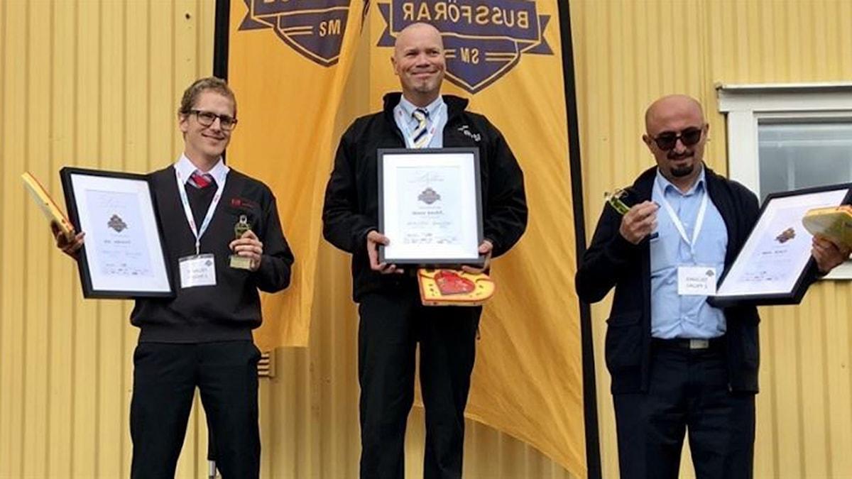 Denny Bauer från Västerås överst på pallen. På andra plats Erik Lindgren från Umeå och tredjeplatsen gick till Abdul Husein från Grimbo.