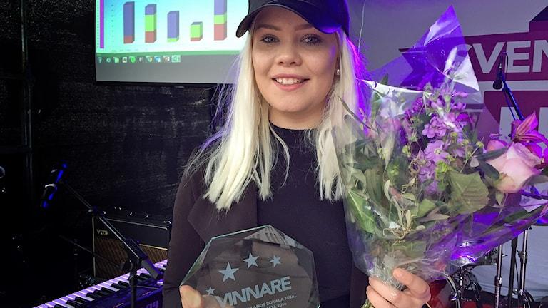 Tilda Anvemyr, segrare i Svensktoppen nästa Västmanland 2016.