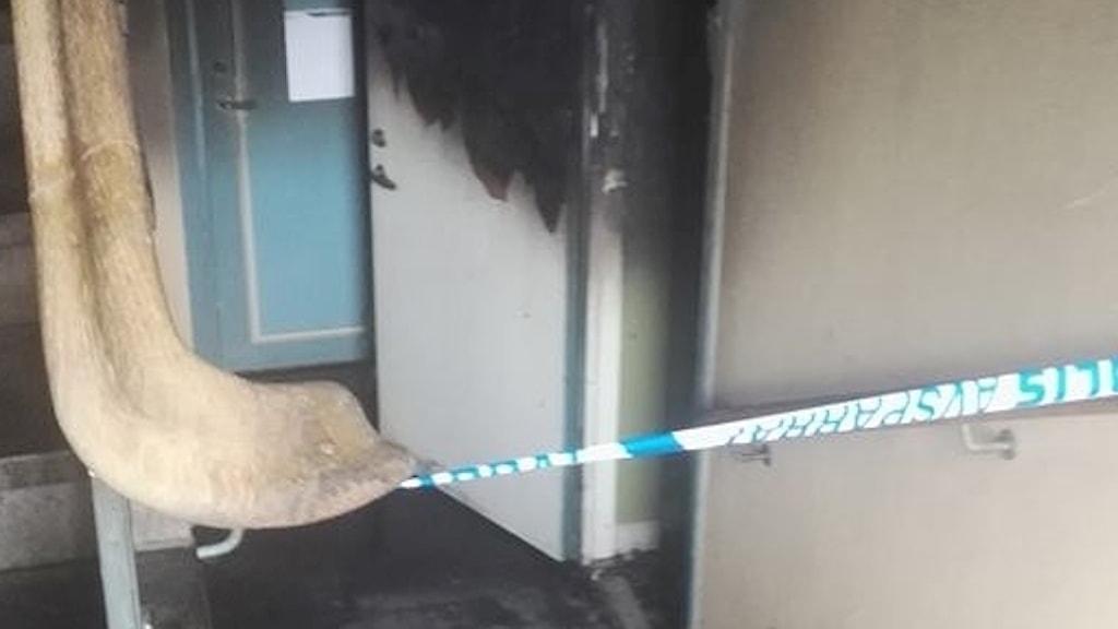 Brand i källaren.