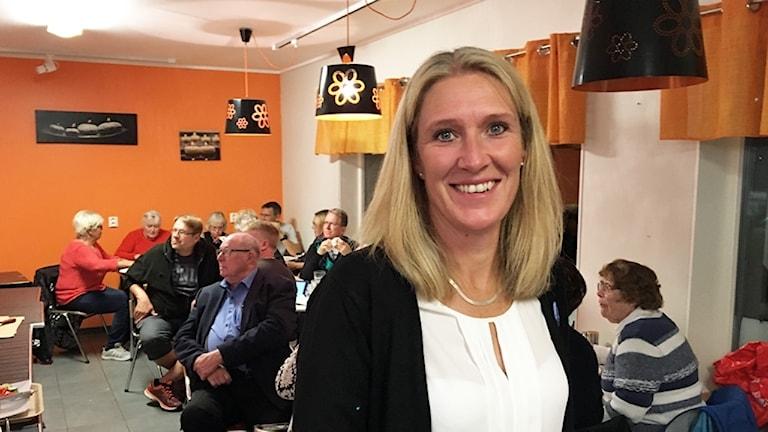 Carina Sándor (L) i Skinnskatteberg.