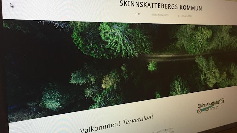 Skinnsskattebergs kommuns tillfälliga hemsida
