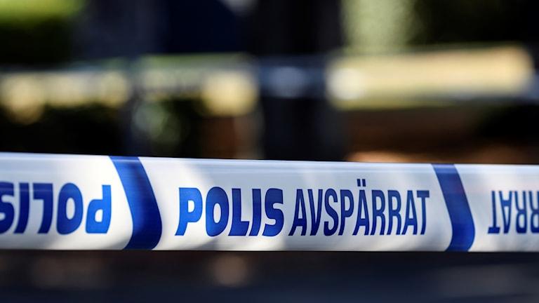 avspärrning polis