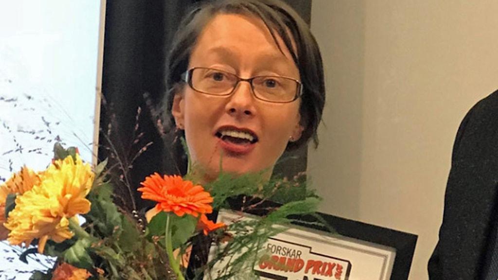 Rachael Berglund vann årets upplaga av Forskar Grand Prix vid Mälardalens högskola.